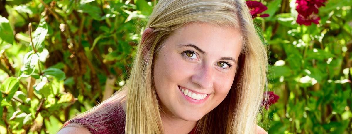 Teenage girl showing smile