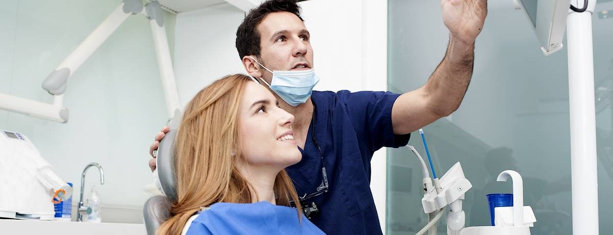 Patient in dental surgery